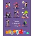 Happy Valentine Day Couple Set vector image