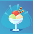 ice cream in bright cartoon style icecream in vector image