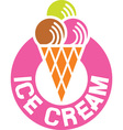 Ice Cream Sign Icon vector image vector image