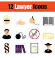 lawyer icon set vector image vector image