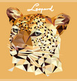 leopard in mosaic style vector image vector image