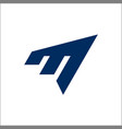 letter m logo sports design vector image