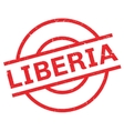 Liberia rubber stamp vector image vector image