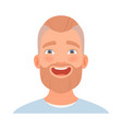 man with a beard smiles broadly vector image vector image