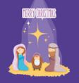 mary joseph and bamanger nativity merry vector image vector image