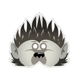Mask hedgehog vector image vector image