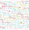 Merry Christmas Text Seamless Pattern Background vector image