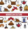 morocco travel agency promo informative poster vector image vector image