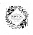 olive branch logo template vintage vector image vector image