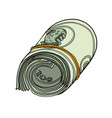 one hundred dollars bundle banknotes gum vector image vector image
