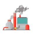 power refinery plant industrial building vector image vector image