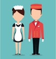room service hotel isolated icon vector image