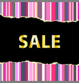 sale banner template vector image vector image