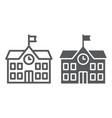 school building line and glyph icon school and vector image vector image