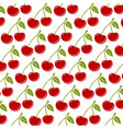 seamless background with ripe red cherries vector image