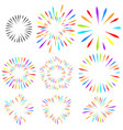 selection of fireworks holiday elements vector image vector image