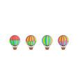 set air balloon icons vector image