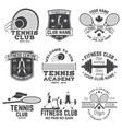 set fitness and tennis club concept with girls vector image