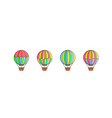 set of air balloon icons vector image