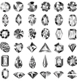 set of precious stones of different cuts vector image vector image