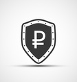 shield with a shield and a sign of the ruble vector image vector image