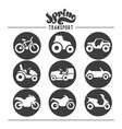 simple set of auto related icons for your vector image vector image