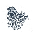 Stay cool and dream more - hand-drawn retro bird vector image vector image