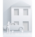street from paper vector image vector image