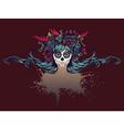 Sugar Skull Girl in Flower Crown12 vector image vector image