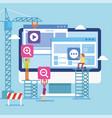 teamwork building user interface vector image vector image