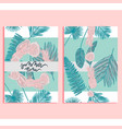 trendy summer background set vector image vector image