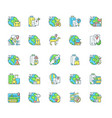 types travel rgb color icons set vector image vector image