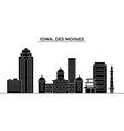 usa iowa des moines architecture city vector image