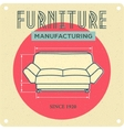 vintage advertising Furniture vector image vector image