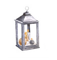 watercolor decorative lantern vintage rusty lamp vector image