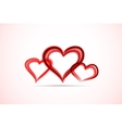 Watercolor red painted heart vector image vector image