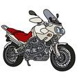 white heavy enduro motorcycle vector image vector image