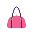 women pink leather handbag back handle and clips vector image