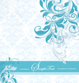 blue floral invitation card