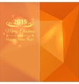 Abstract mosaic orange color vector image