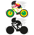 a cycling athlete character vector image
