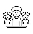 a group people line icon a group people vector image