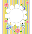 A stationery template with flowers and butterflies vector image vector image