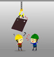 accident from lifting chain holding heavy metal vector image