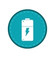 battery charge alkaline lighting green circle vector image