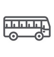 bus line icon transport and transportation vector image vector image