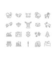 canada line icons signs set outline vector image vector image