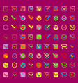 check box approve buttons icons set check vector image