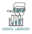 chemical laboratory logo template vector image