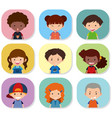 children with different emotions on their faces vector image vector image
